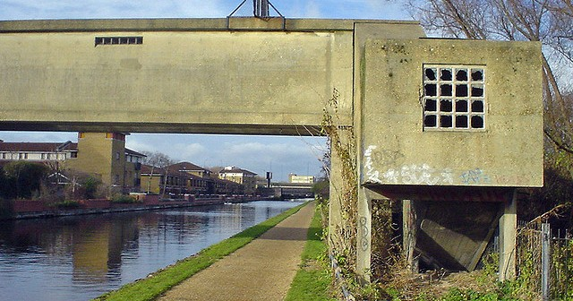 Gainsborough: A vista of **** 70's housing & disused factory buildings