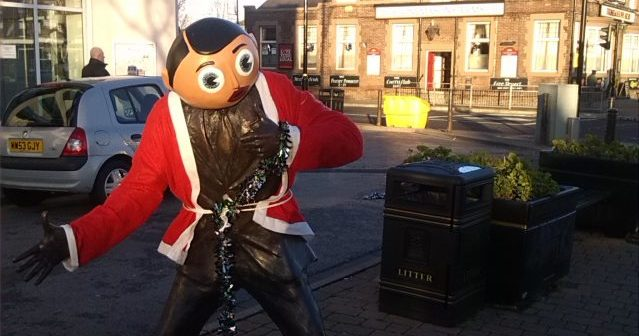 Timperley: no one can stand the ghastly Frank Sidebottom statue