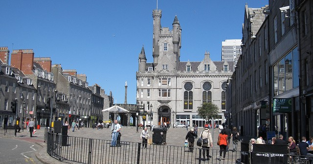Aberdeen has the largest divide of rich and poor in the EU (so I'm told)