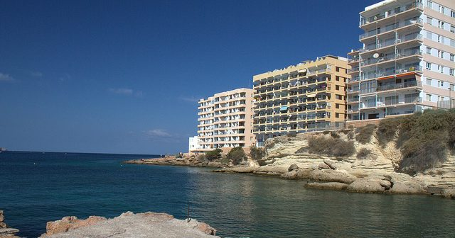 San Antoni is a crusty scab on the face of the fine island of Ibiza