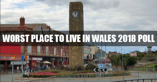 Worst place to live in Wales 2018 poll
