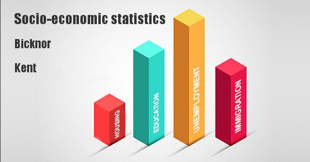 Socio-economic statistics for Bicknor, Kent