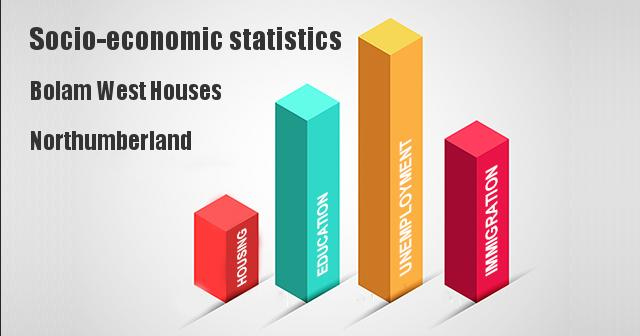 Socio-economic statistics for Bolam West Houses, Northumberland
