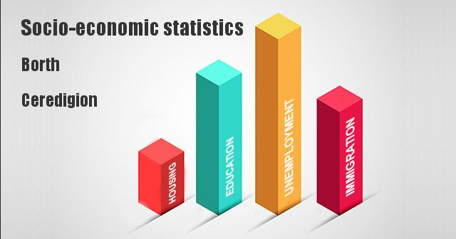Socio-economic statistics for Borth, Ceredigion