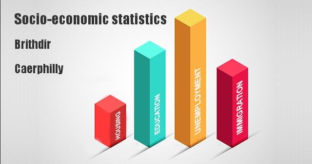 Socio-economic statistics for Brithdir, Caerphilly