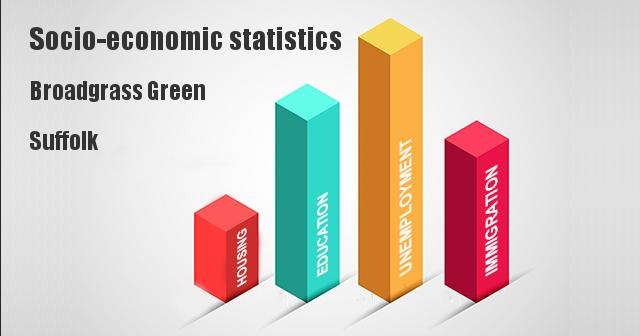 Socio-economic statistics for Broadgrass Green, Suffolk