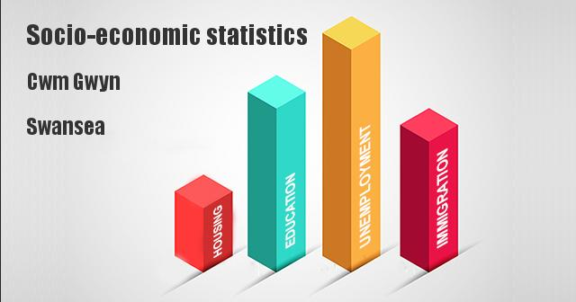 Socio-economic statistics for Cwm Gwyn, Swansea