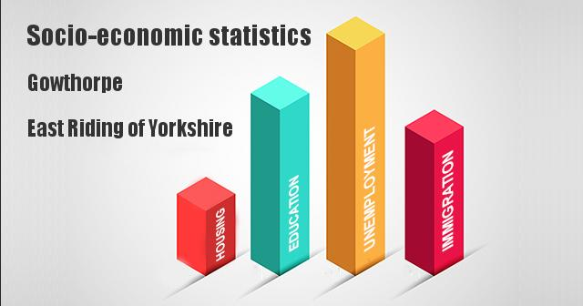 Socio-economic statistics for Gowthorpe, East Riding of Yorkshire