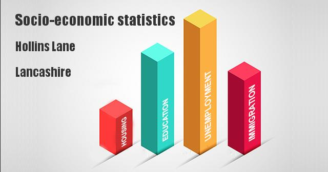 Socio-economic statistics for Hollins Lane, Lancashire