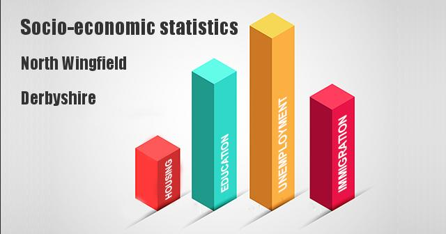 Socio-economic statistics for North Wingfield, Derbyshire