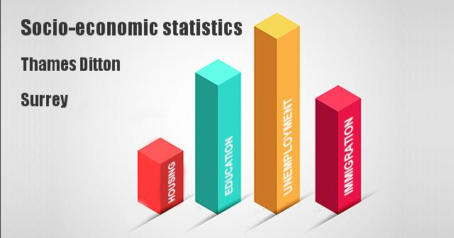 Socio-economic statistics for Thames Ditton, Surrey