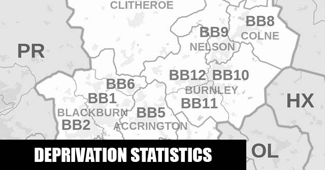 English Indices of Deprivation statistical comparisons for Lower-Super Output Areas in Wensley Fold, Blackburn with Darwen, Lancashire