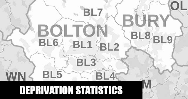 English Indices of Deprivation statistical comparisons for Lower-Super Output Areas in Halliwell, Bolton, Greater Manchester
