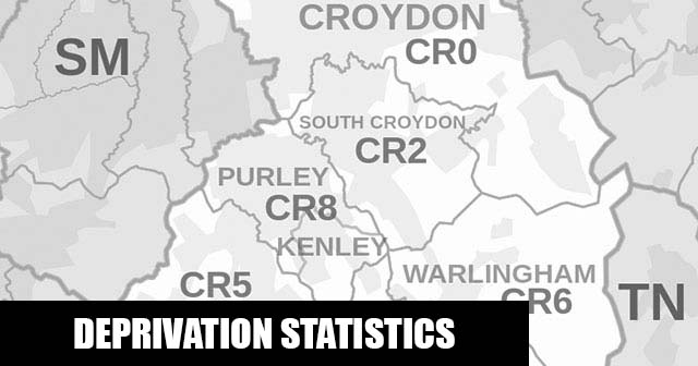 English Indices of Deprivation statistical comparisons for Lower-Super Output Areas in Waddon, Croydon, Greater London