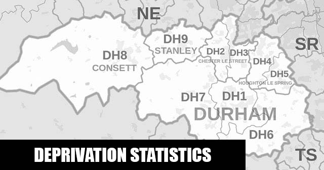 English Indices of Deprivation statistical comparisons for Lower-Super Output Areas in Lumley, County Durham, County Durham