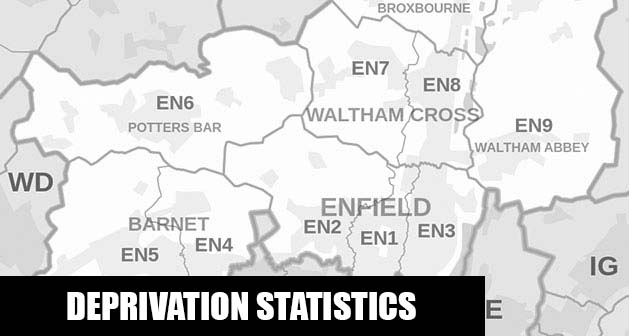 English Indices of Deprivation statistical comparisons for Lower-Super Output Areas in Northaw and Cuffley, Welwyn Hatfield, Hertfordshire
