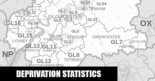English Indices of Deprivation statistical comparisons for Lower-Super Output Areas in The Stanleys, Stroud, Gloucestershire