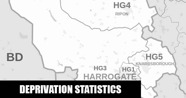 English Indices of Deprivation statistical comparisons for Lower-Super Output Areas in Ripon Minster, Harrogate, North Yorkshire