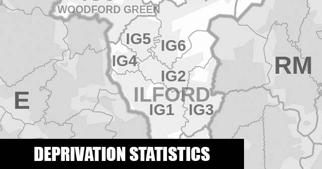 English Indices of Deprivation statistical comparisons for Lower-Super Output Areas in Monkhams, Redbridge, Greater London