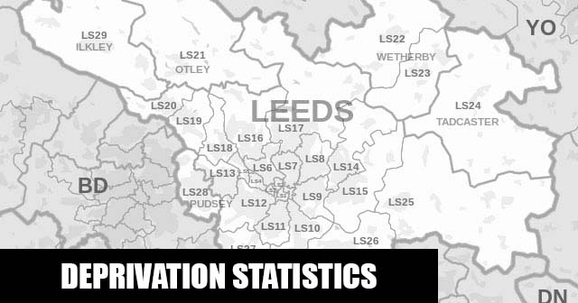 English Indices of Deprivation statistical comparisons for Lower-Super Output Areas in Gipton & Harehills, Leeds, West Yorkshire