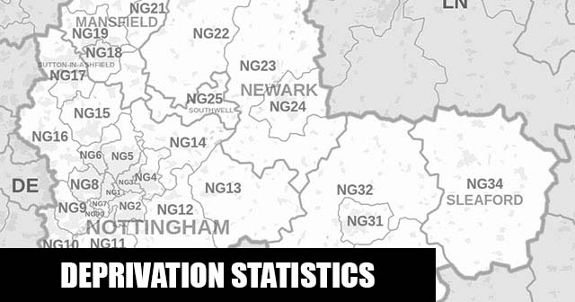 English Indices of Deprivation statistical comparisons for Lower-Super Output Areas in Sutton-on-Trent, Newark and Sherwood, Nottinghamshire