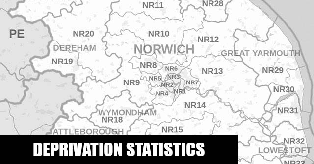 English Indices of Deprivation statistical comparisons for Lower-Super Output Areas in Lakenham, Norwich, Norfolk