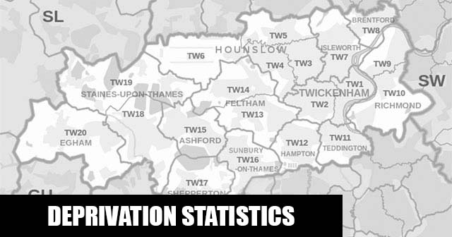 English Indices of Deprivation statistical comparisons for Lower-Super Output Areas in Heston West, Hounslow, Greater London