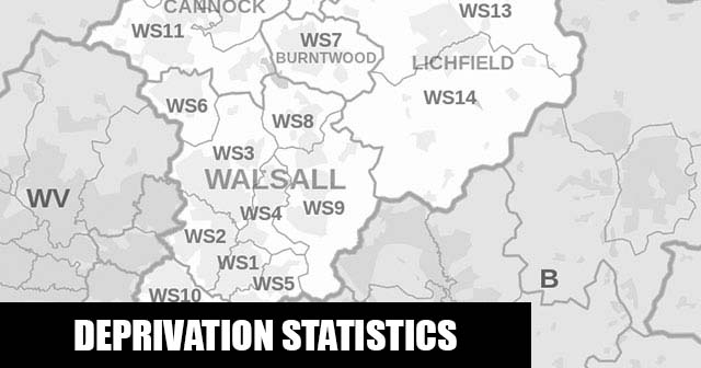 English Indices of Deprivation statistical comparisons for Lower-Super Output Areas in Chasetown, Lichfield, Staffordshire